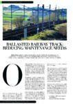 Ballasted track – reducing maintenance needs RTM OCT-NOV 17